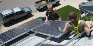 Golden Solar panel installation